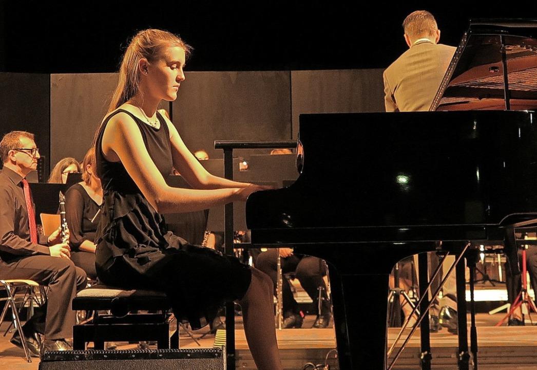 Bernadette Leberl mit der Musik Heitersheim
